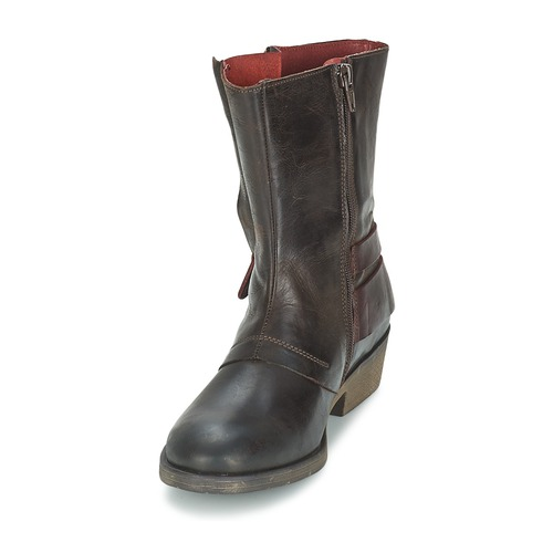 Zapatos Botas Marrón Kickers Caña Baja De Mujer Ameriko BodxeC