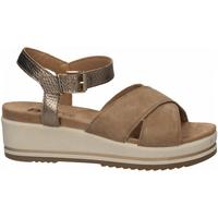Zapatos Mujer Sandalias Enval D SN 52934 beige-scuro