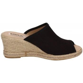 Zapatos Mujer Alpargatas Kokis Sandalias cuÑa negro NEGRO