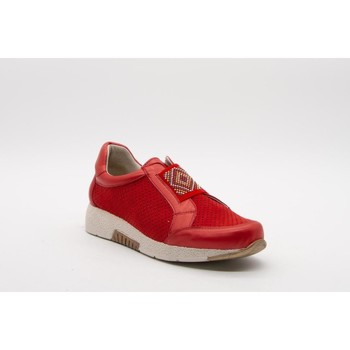 Zapatos Mujer Slip on Puche 6589 Rojo