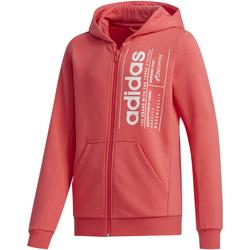 textil Niña sudaderas Adidas Performace SUDADERA ADIDAS YG BB FZ Rosa