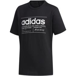 textil Niños camisetas manga corta Adidas Performace CAMISETA ADIDAS YB BB T Negro