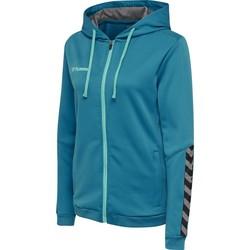 textil Mujer Sudaderas Hummel Sweatshirt femme  zip hmlAUTHENTIC Poly bleu