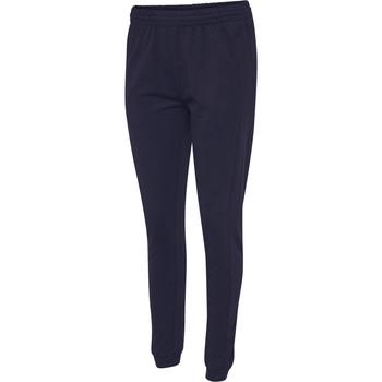 textil Mujer Pantalones de chándal Hummel Pantalon femme  hmlgo cotton bleu marine