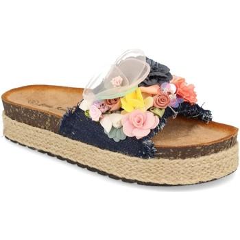 Zapatos Mujer Zuecos (Mules) Ainy LSS-19 Marino