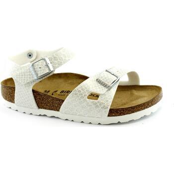Zapatos Niña Sandalias Birkenstock BIR-RRR-1008286-WH Bianco