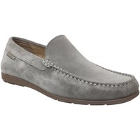 Zapatos Hombre Mocasín Mephisto ALGORAS Terciopelo gris claro
