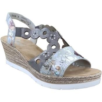 Zapatos Mujer Sandalias Rieker 619d6 gris