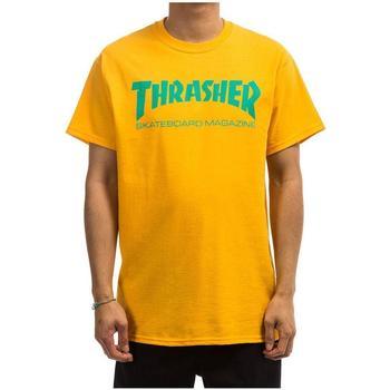 textil Hombre Camisetas manga corta Thrasher TSTHRSHRMAG-GOLD amarillo