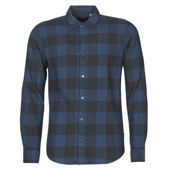 textil Hombre Camisas manga larga Only & Sons ONSGUDMUND Marino / Negro