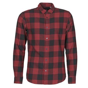 textil Hombre Camisas manga larga Only & Sons ONSGUDMUND Burdeo / Negro