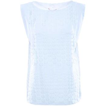 textil Mujer Tops / Blusas Luckylu BLUSA SMANICATA  PIZZO BOLLI 0001-bianco