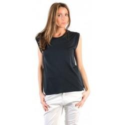 textil Mujer Camisetas manga corta American Vintage TOP JAC60 CARBONE Gris