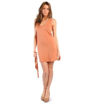 textil Mujer Vestidos American Vintage ROBE NOU28 ROUILLE Naranja