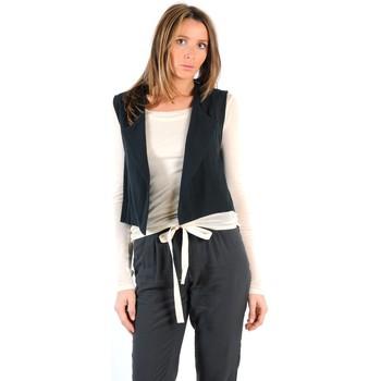 textil Mujer Chaquetas de punto American Vintage GILET LEA134E11 CARBONE Gris