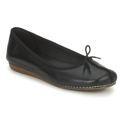 Zapatos Mujer Bailarinas-manoletinas Clarks FRECKLE ICE Negro