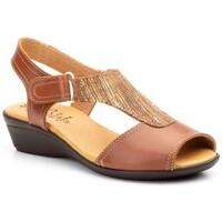 Zapatos Mujer Sandalias Cbp - Conbuenpie Sandalias con cuña de piel by CBP Marron