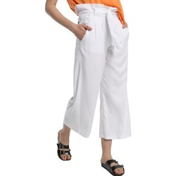 textil Mujer Pantalones fluidos Lois pantalon cinturon dael jinx blanc 206902042 Blanco
