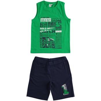 textil Niño Conjunto Ido 4J019 Verde azul