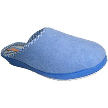 Zapatos Mujer Pantuflas Calzacomodo Chanclas toalla lisa cerrada en la punta azul