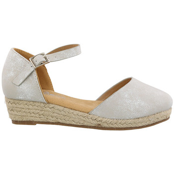 Zapatos Niña Alpargatas Chika10 & Chiko10 Kids CIRUELA 17 Plata/Silver