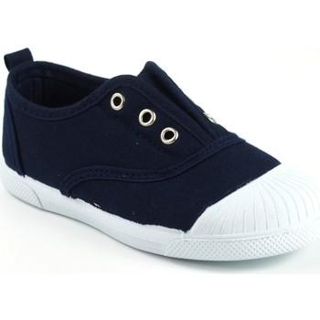 Zapatos Niña Zapatillas bajas Vulca Bicha Lona niño  625 azul Azul