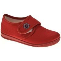 Zapatos Niño Pantuflas Cumbres LONA NIÑO  ROJO Rojo