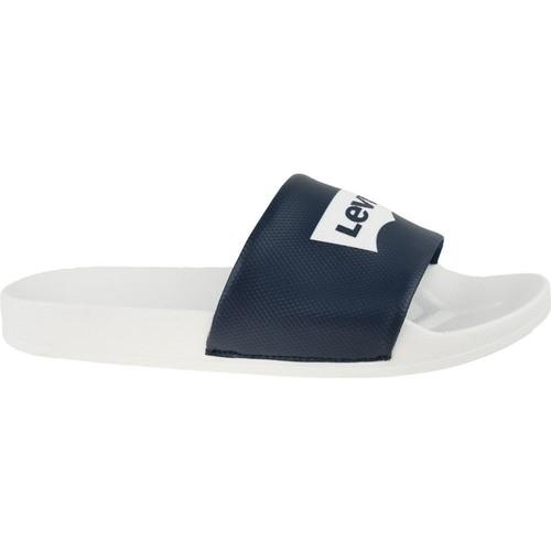 Zapatos Hombre Chanclas Levi's Batwing Slide Sandal Blanco,Negros
