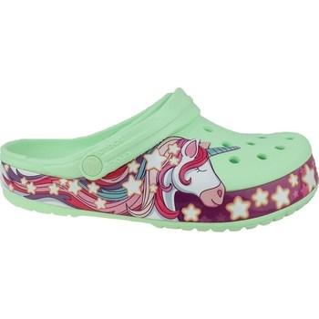 Zapatos Niños Chanclas Crocs Fun Lab Unicorn Band Clog Verdes, Rosa