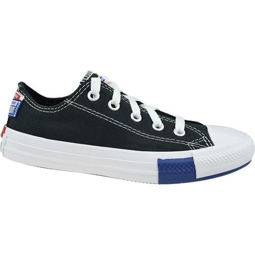 Zapatos Niños Zapatillas bajas Converse Chuck Taylor All Star JR Blanco,Negros