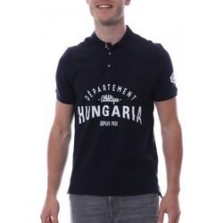 textil Hombre Polos manga corta Hungaria  Azul