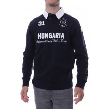 textil Hombre Polos manga larga Hungaria  Azul