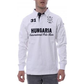 textil Hombre Polos manga larga Hungaria  Blanco