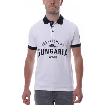 textil Hombre Polos manga corta Hungaria  Blanco