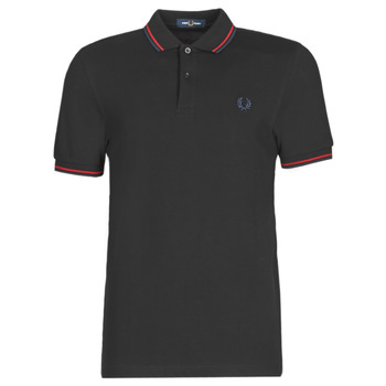 textil Hombre Polos manga corta Fred Perry TWIN TIPPED FRED PERRY SHIRT Negro / Sir / Cb