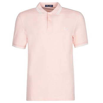 textil Hombre polos manga corta Fred Perry TWIN TIPPED FRED PERRY SHIRT Silverpink / Snw