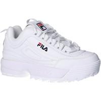 Zapatos Niños Zapatillas bajas Fila 1010567 1FG DISRUPTOR KD Blanco