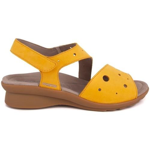 Zapatos Mujer Sandalias Mephisto PHIBY NUBUCK OCHRE AMARILLO