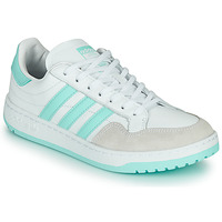 Zapatos Zapatillas bajas adidas Originals TEAM COURT W Blanco / Turquesa