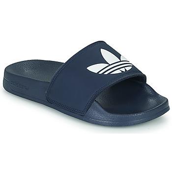 Zapatos Niños Zapatillas bajas adidas Originals ADILETTE LITE J Marino / Blanco