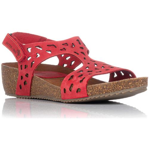 Zapatos Mujer Sandalias Interbios 5372 ROJO