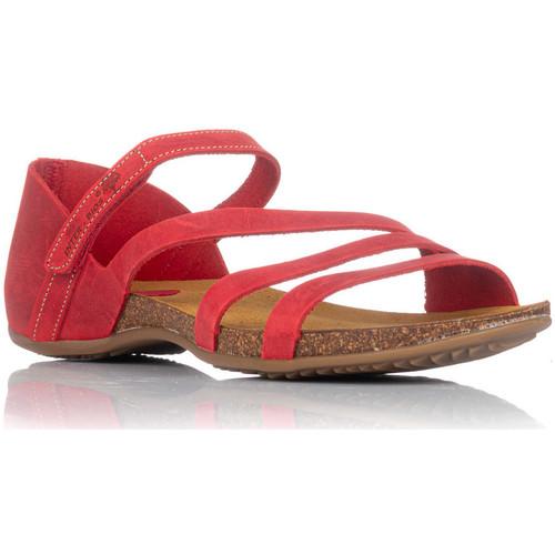 Zapatos Mujer Sandalias Interbios 4476 ROJO