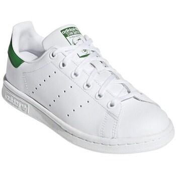 Zapatos Zapatillas bajas adidas Originals Stan Smith Junior Blanco