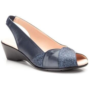 Zapatos Mujer Sandalias Cbp - Conbuenpie Sandalias con tacón bajo de piel by CBP Bleu