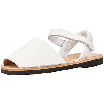 Zapatos Niños Sandalias Ria MENORQUINA  VELCRO 19 BLANCO BLANCO