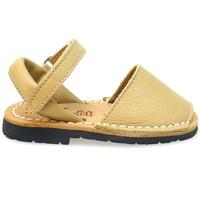 Zapatos Niños Sandalias Ria MENORQUINA  VELCRO BEIGE