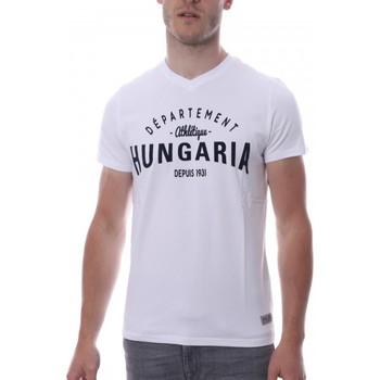 textil Hombre Camisetas manga corta Hungaria  Blanco