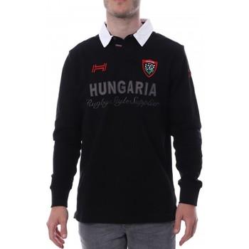 textil Hombre Polos manga larga Hungaria  Negro