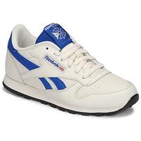 Zapatos Niños Zapatillas bajas Reebok Classic CLASSIC LEATHER Blanco / Azul