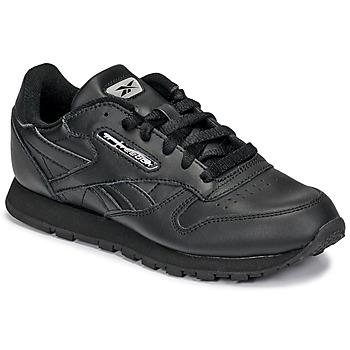 Zapatos Niños Zapatillas bajas Reebok Classic CLASSIC LEATHER Negro